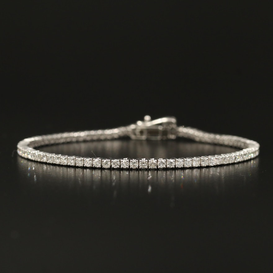 14K 2.50 CTW Diamond Tennis Bracelet