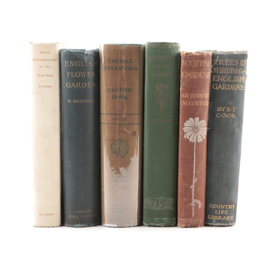 "First Edition ""Thomas Jefferson's Garden Book"" and More Horticulture Books"