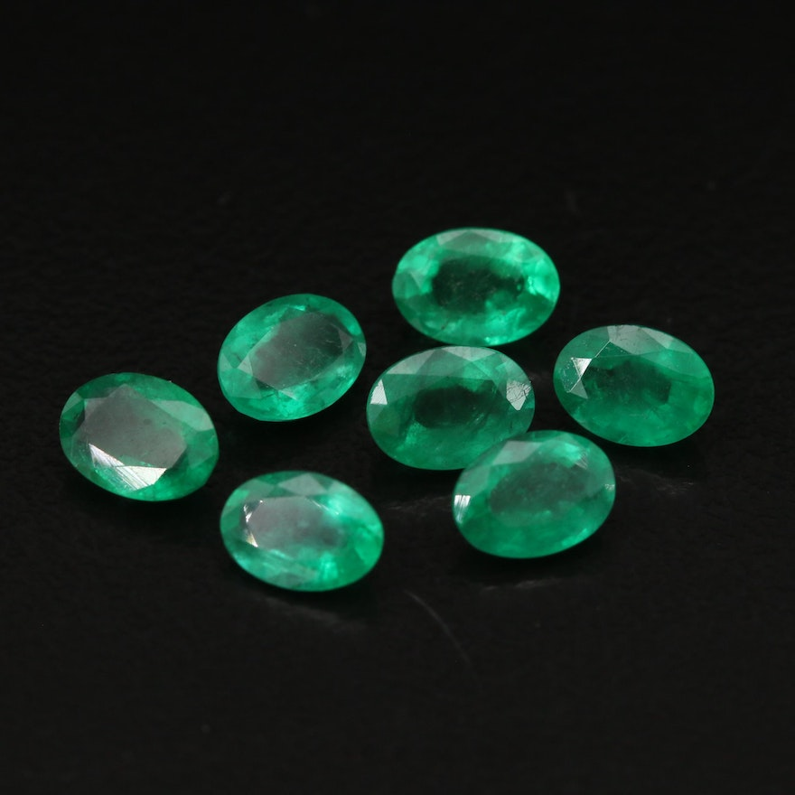 Loose 5.25 CTW Oval Faceted Emeralds