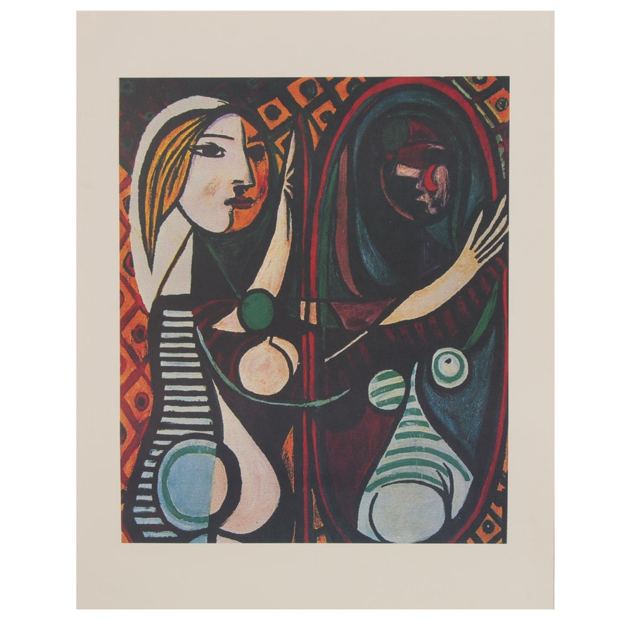 "Offset Lithograph after Pablo Picasso ""Girl Before a Mirror"""