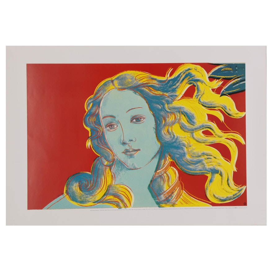 """Offset Lithograph after Andy Warhol """"Details of Renaissance Paintings"""""""