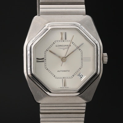 1976 Longines Stainless Steel Automatic Wristwatch