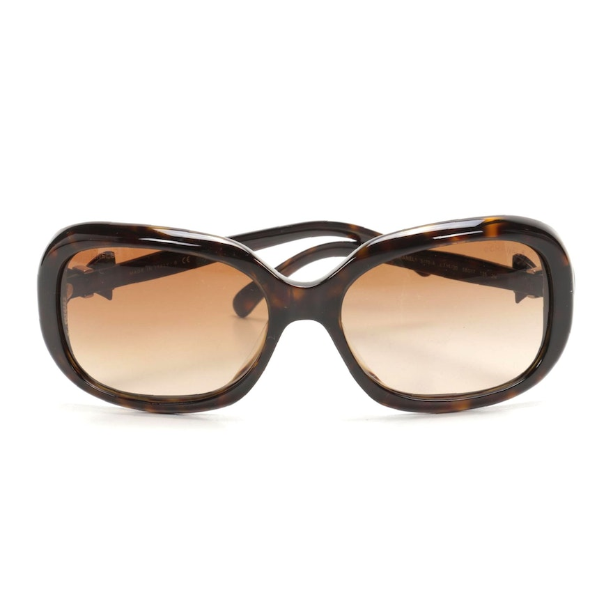 Chanel 5170-A CC Bow Sunglasses in Brown Tortoise with Case