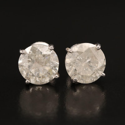 14K 6.17 CTW Diamond Stud Earrings