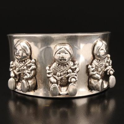 Carol Felley Sterling Figural Cuff