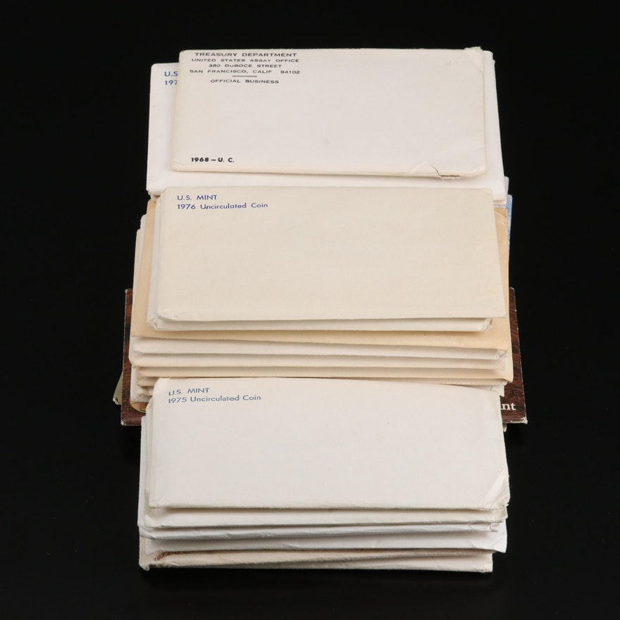 Thirty-Four Full and Partial U.S. Mint Uncirculated Sets
