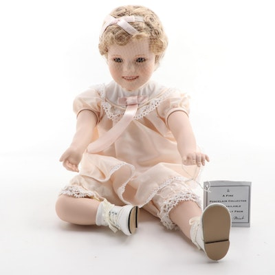 "The Danbury Mint ""Little Miss Shirley"" Porcelain Doll"