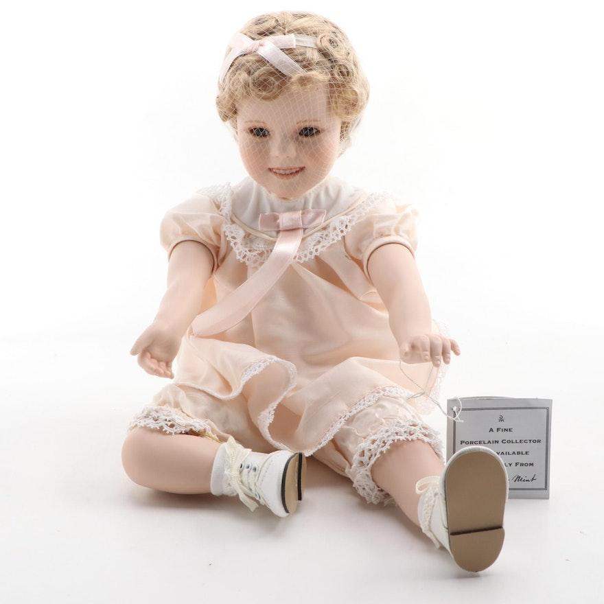 "The Danbury Mint ""Little Miss Shirley"" Porcelain Doll"