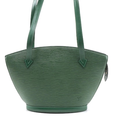 Louis Vuitton Green Epi Leather Saint Jacques PM Bag