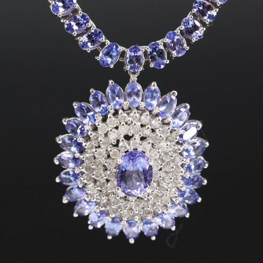 14K Tanzanite and 1.47 CTW Diamond Necklace