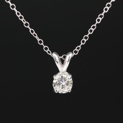 14K 0.40 CT Diamond Solitaire Necklace