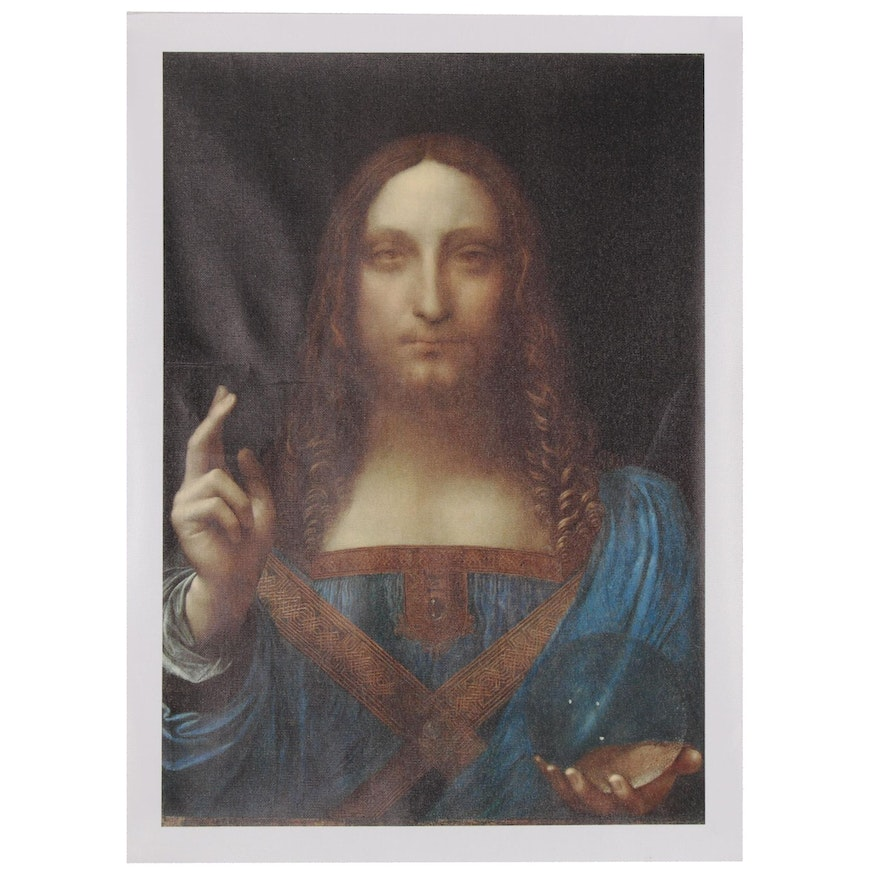 "Giclée after Leonardo da Vinci ""Salvator Mundi"""