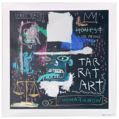 Giclée after Jean-Michel Basquiat of Abstract Figure