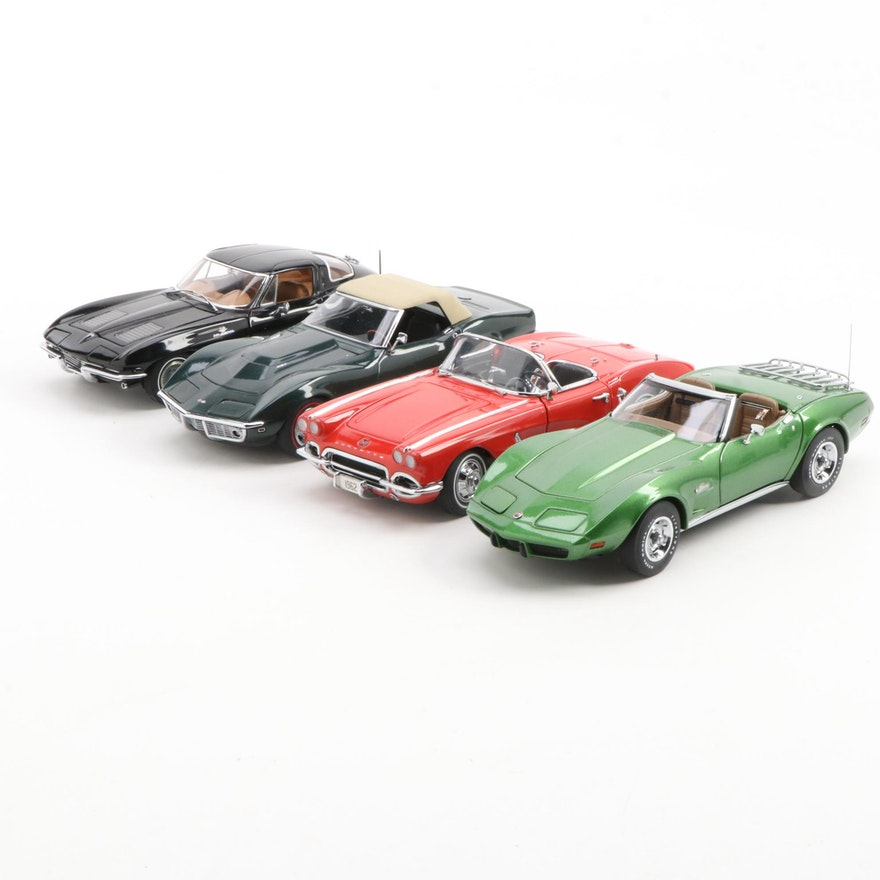 Danbury Mint Chevrolet Classic Die Cast Cars in Original Packaging