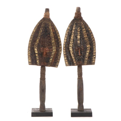 Kota-Mahongwe Style Reliquary Guardian Figures, Central Africa