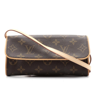 Louis Vuitton Monogram Canvas Pochette Twin PM Bag