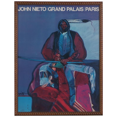 John Nieto Offset Lithograph Exhibition Poster from Grand Palais, Paris