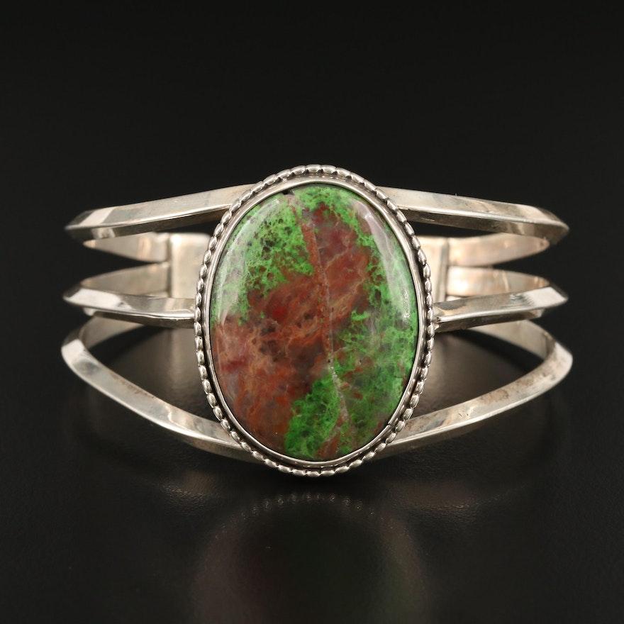 Sterling Silver Agate Cuff Bracelet
