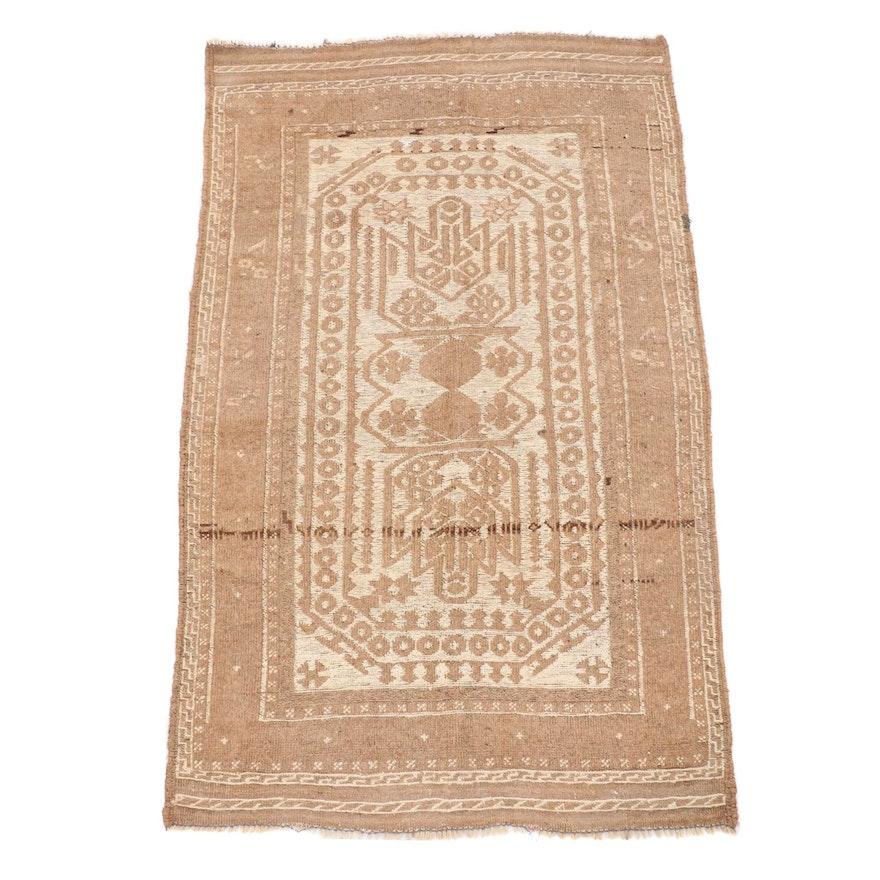 2'9 x 4'9 Handwoven Afghan Baluch Wool Area Rug