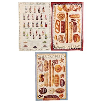 """Celestial Arts """"The Classic Beer Guide"""" and Bread Posters"""