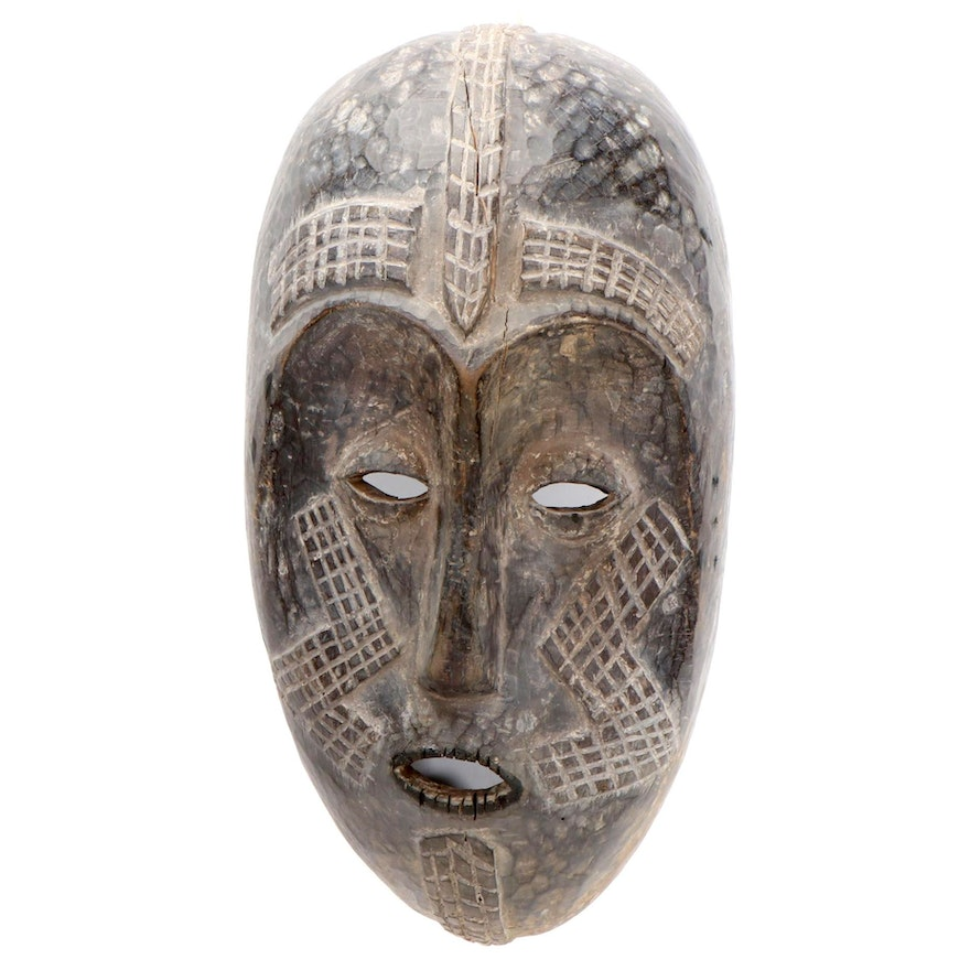 Tabwa Inspired Large-Scale Wood Mask, Central Africa