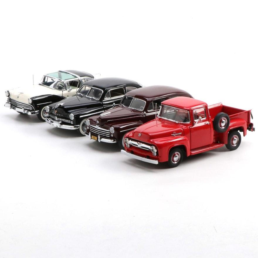 Danbury Mint Ford and Mercury Die Cast Model Cars