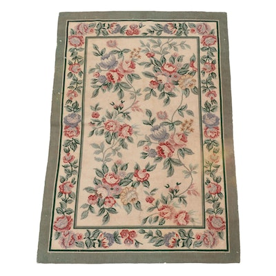 3'2 x 4'8 Handmade French Aubusson Style Wool Area Rug