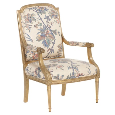 Louis XVI Style Gold-Painted Fauteuil, circa 1900