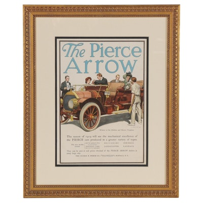 "Offset Lithograph Illustration after John Gould ""The Pierce Arrow"""
