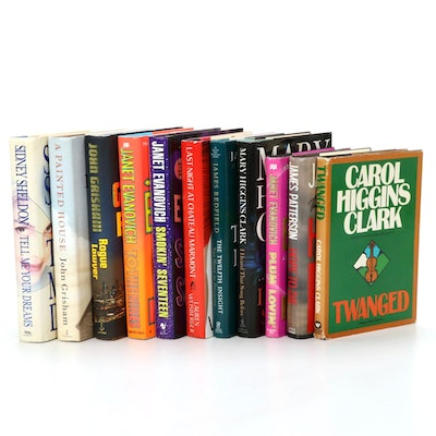 "First Edition Books Including ""Twanged"" by Carol Higgins Clark and Others"