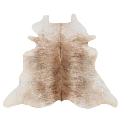 6' x 6'4 Natural Cow Hide Area Rug