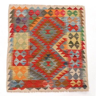 3' x 3'5 Handwoven Afghan Kilim Rug