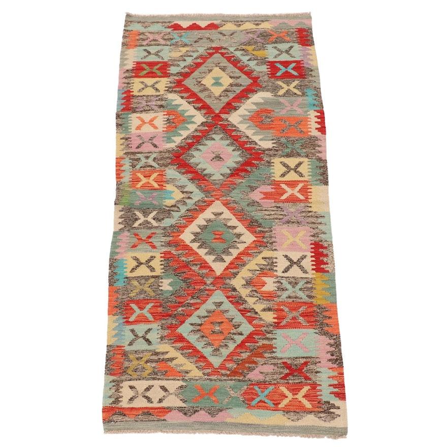 3' x 6'4 Handwoven Afghan Kilim Rug