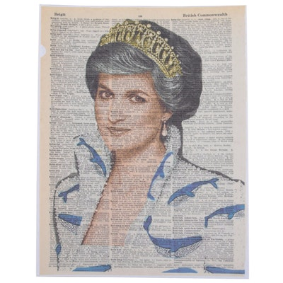 Grant Rosen and Micha Ruechenhoff Pop Art Giclée of Princess Diana