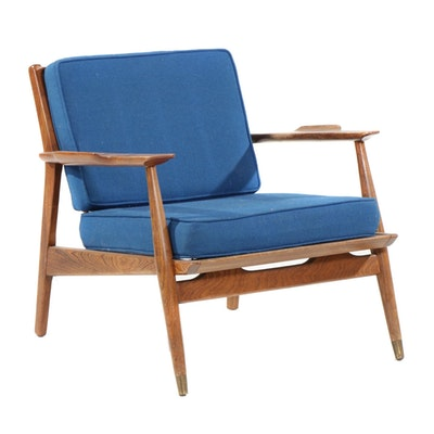 Mid Century Modern Wood Lounge Chair