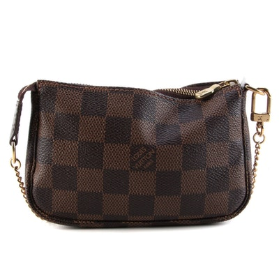 Louis Vuitton Mini Pochette Accessories in Damier Ebene Canvas