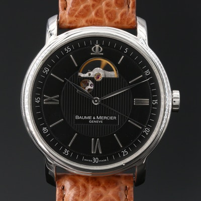 Baume & Mercier Classima XL Open Stainless Steel Automatic Wristwatch