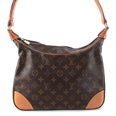 Louis Vuitton Boulogne 30 Shoulder Bag in Monogram Canvas and Vachetta Leather