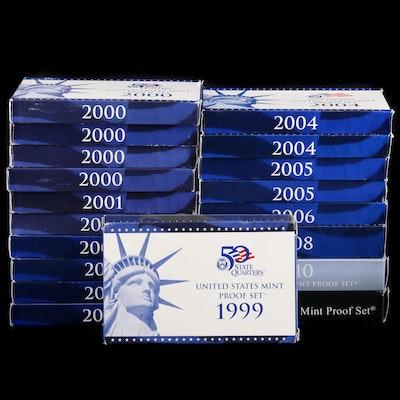 Twenty Uncirculated U.S. Mint Proof Sets