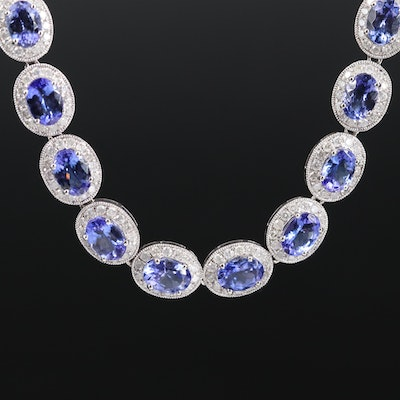 14K Tanzanite and 7.02 CTW Diamond Necklace