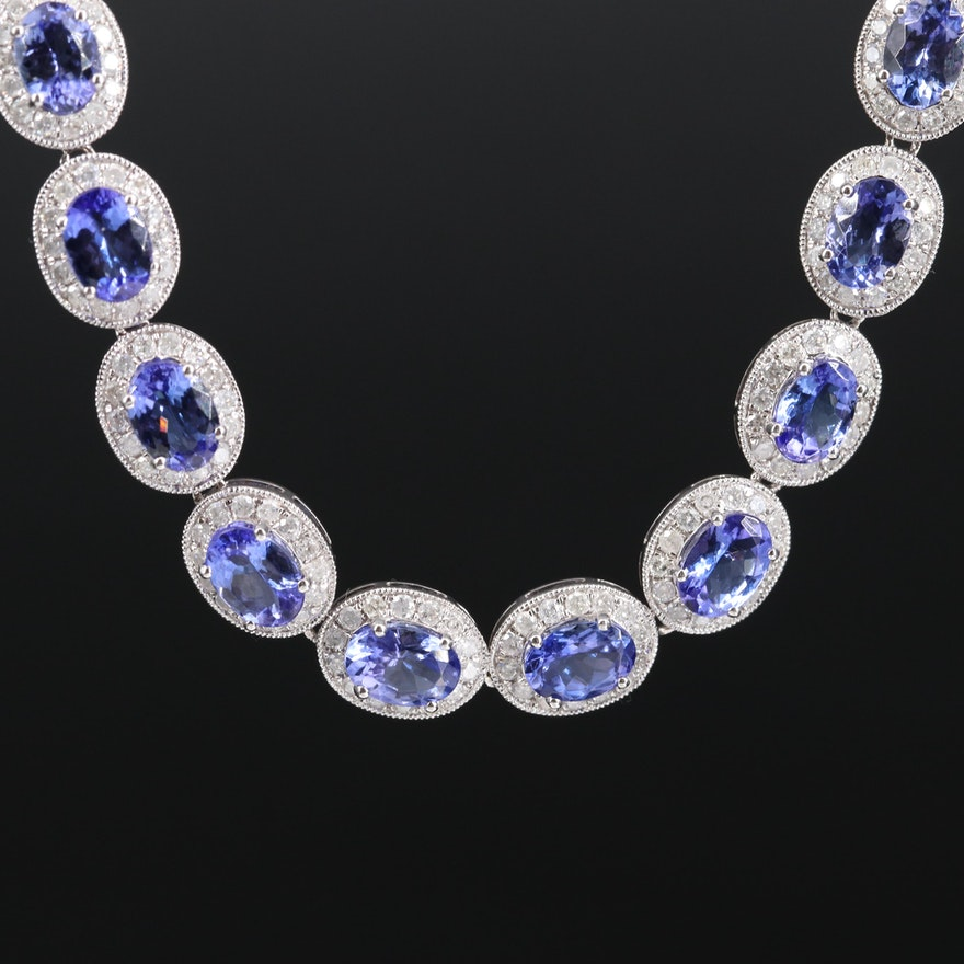 14K Tanzanite and 7.02 CTW Diamond Necklace