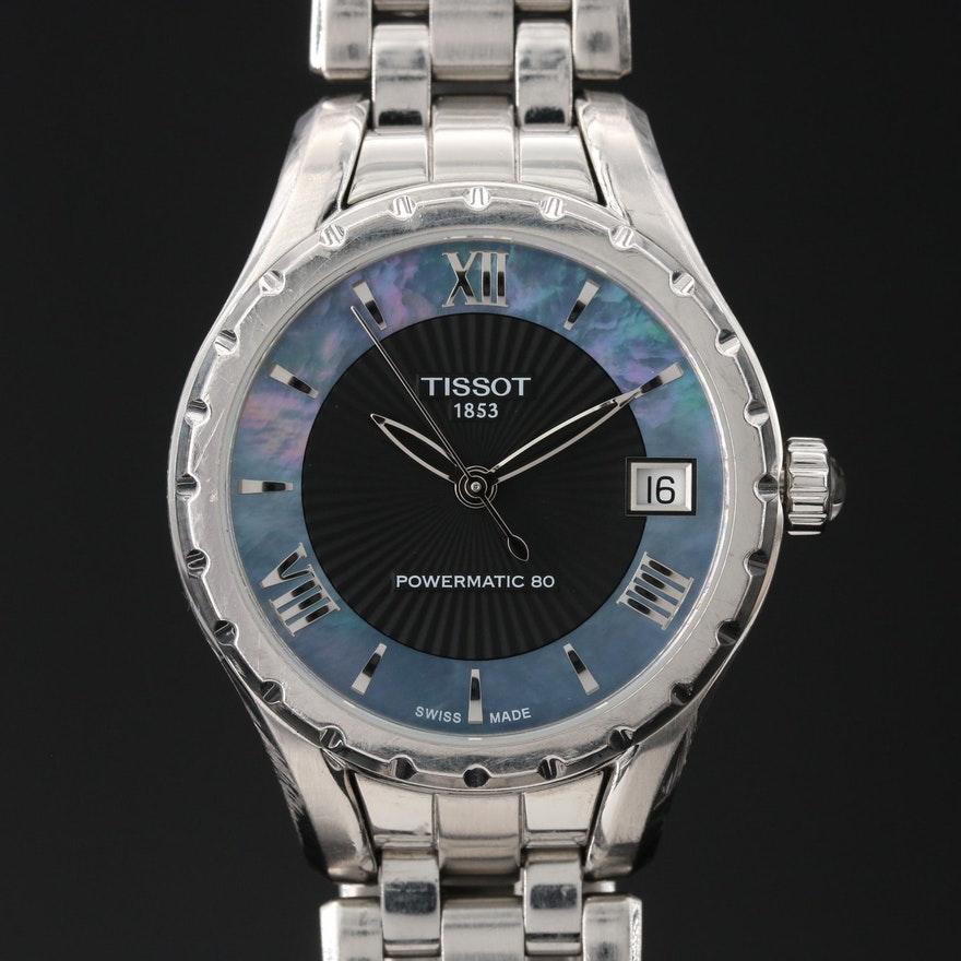 "Tissot ""T-Lady Powermatic 80"" Stainless Steel Automatic Wristwatch"