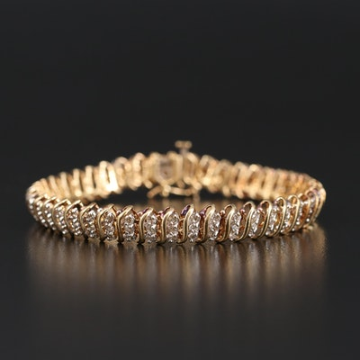10K 3.50 CTW Diamond Bracelet