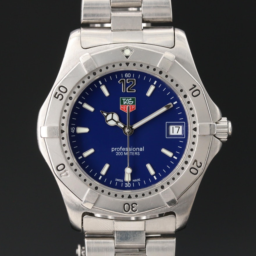 TAG Heuer 2000 Classic Stainless Steel Wristwatch