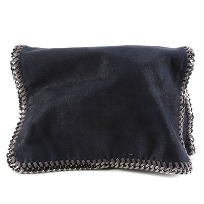 Stella McCartney Falabella Dark Navy Shaggy Deer Messenger Style Shoulder Bag
