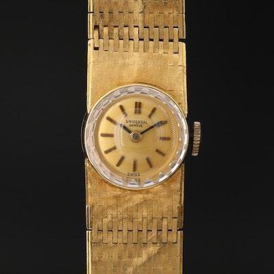 Vintage Universal Geneve 18K Yellow Gold Stem Wind Wristwatch