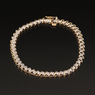 10K 1.10 CTW Diamond Bracelet
