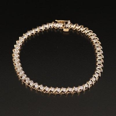 10K 1.10 CTW Diamond Bracelet