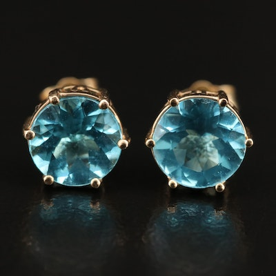 10K Apatite Stud Earrings