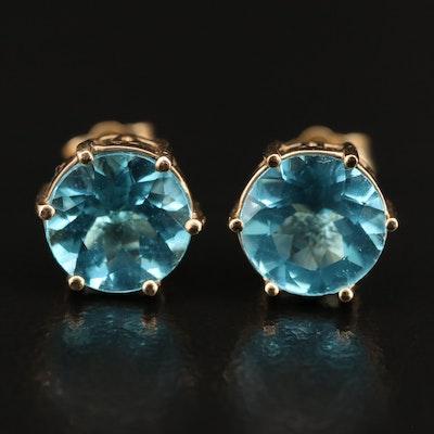10K Apatite Stud Earrings